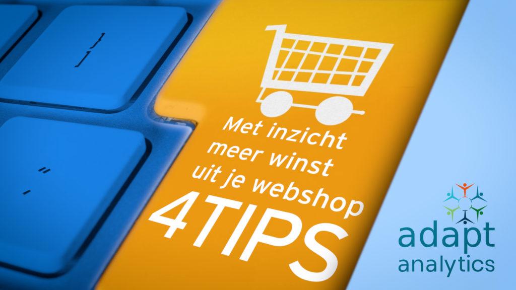 Met inzicht meer winst uit je webshop